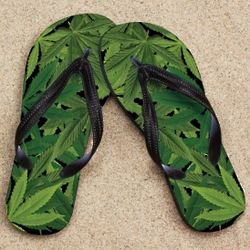 Pot Leaves Beacher Sandals