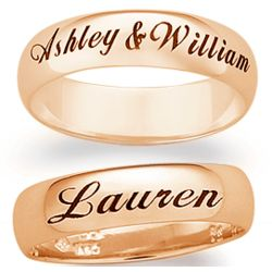 10K Gold Engraved Name or Message Band