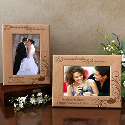 Personalized Dreams and Wishes Wooden Picture Frame