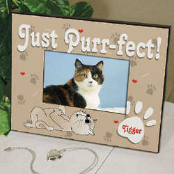 Just Purrfect Printed Picture Frame