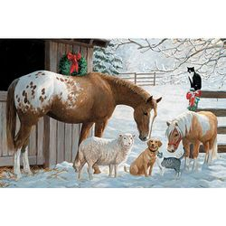 Winter Barnyard Puzzle