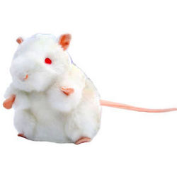 White Lab Mouse Plush Doll