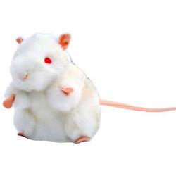 White Lab Mouse Plush Doll