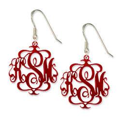 Acrylic Monogram Earrings