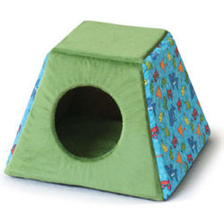 Fish Print Heated Cat Bed Cabin