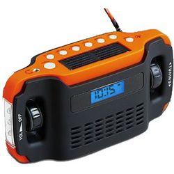 Solar Crank Clock Radio