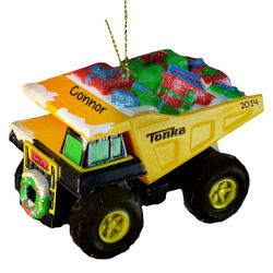 Tonka Truck Personalized Christmas Ornament