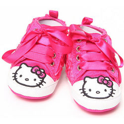 Girl's Pink Hello Kitty Rosettes Booties