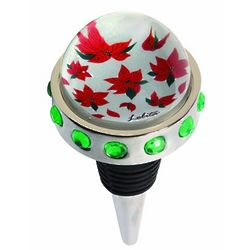 Poinsettia Bottle Stopper