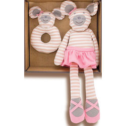 Ballerina Mouse Organic Baby Gift Set
