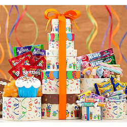 Happy Birthday Nostalgic Sweets Gift Tower
