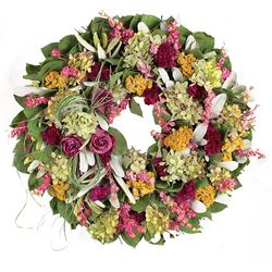 Rose and Mixed Floral Indoor Wreath