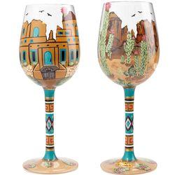 Southwest Scene Wine Glass