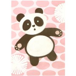 Tai Chan Panda Pink Wall Art