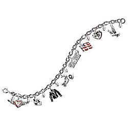 Motorcycle Charm Bracelet with Symbols of Freedom