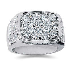2.68 ctw Men's Diamond Ring in 18K White Gold