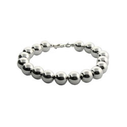 Tiffany Inspired 10mm Sterling Silver Bead Bracelet