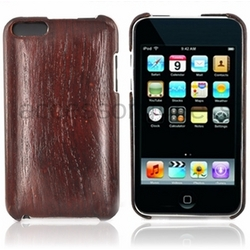 iPod Touch 2nd & 3rd Generation Dark Rose Wood & Plastic Case