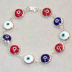 Red, White and Blue Evil Eye Bracelet