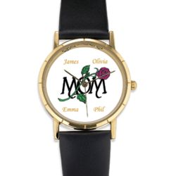 Personalized 'Mom' Rose Watch