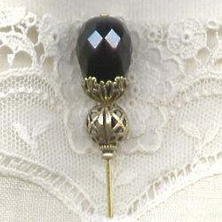 Crystal Black Hatpin