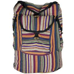 Large Nepal Gheri Fabric Backpack