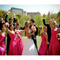 Picture Perfect Wedding Party Photo Canvas
