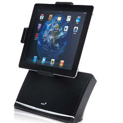 Rotating iPad Docking Speaker System