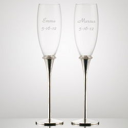 Personalized Flutes with Crystal Accents