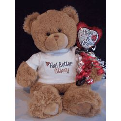 Personalized Feel Better Lady Bug Teddy Bear