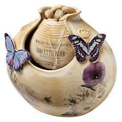 Vintage Butterflies Porcelain Water Fountain