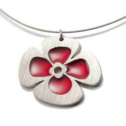 Red Poppy Necklace