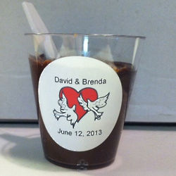 Personalized Fudge Shot Wedding Favors