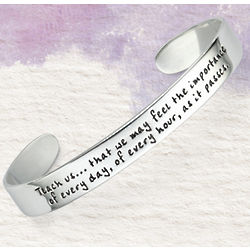 Jane Austen Teach Us Cuff Bracelet