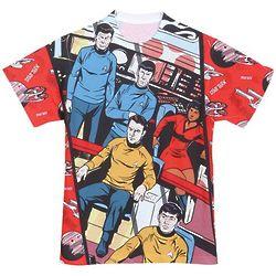 Classic Star Trek Comic Sublimated T-Shirt