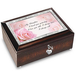 My Daughter I Will Love You Always Personalized Music Box