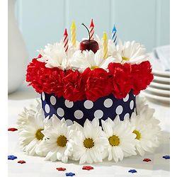 Stupendous Liberty Dreams Cake Flower Arrangement Findgift Com Funny Birthday Cards Online Hetedamsfinfo