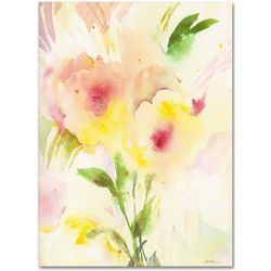 Two Garden Flowers Fine Art Canvas Print