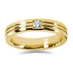 0.15 ctw Men's Diamond Ring in 18K Yellow Gold