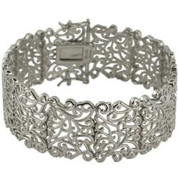 Sterling Silver Filigree Design Bracelet