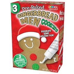 Pre-Baked Gingerbread Men Cookies 3ct. - Candy Crate