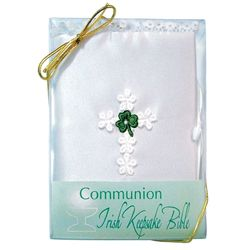 Irish Shamrock First Communion Keepsake Bible