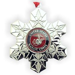 Personalized Marines Military Service Christmas Ornament