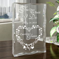 Personalized The Day We Said I Do Plaque