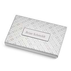 Plaid Business Card Case