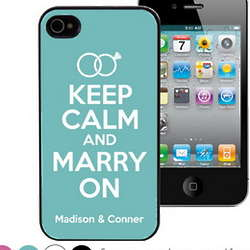 Keep Calm and Marry On Personalized iPhone 4 / 4S Case