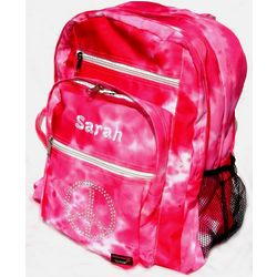 Pink Tie Dye Peace Backpack