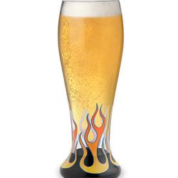 Engravable Red Hot Pilsner Glass