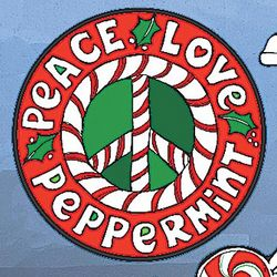 Peace Love Peppermint Car Magnet