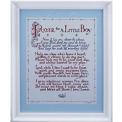 Prayer for a Little Boy Framed Print